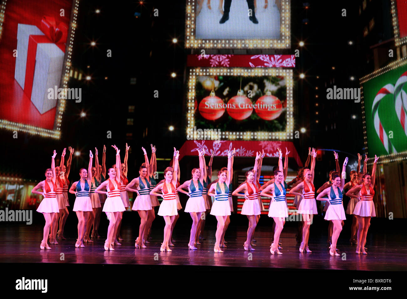 rockettes dancing during new york at christmas scene in radio city music hall christmas - Rockettes Christmas Show