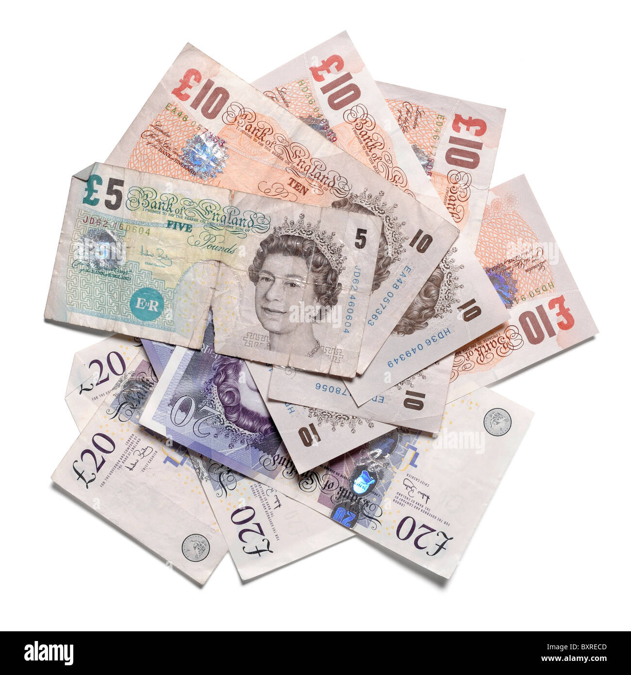 Pound sterling paper money - Stock Image