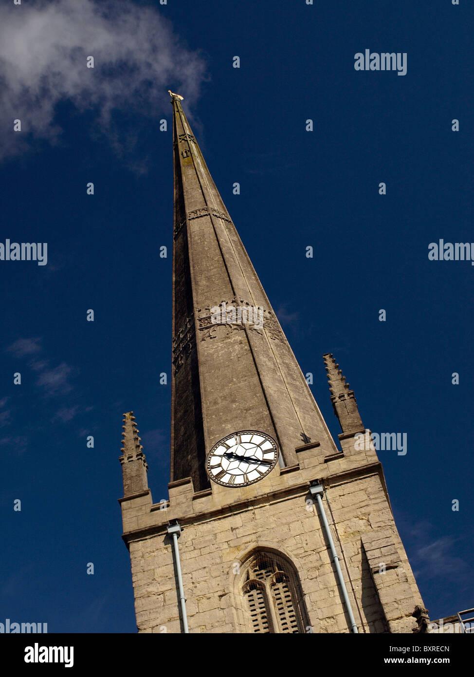 Church steeple, Trowbridge, Wiltshire, UK - Stock Image