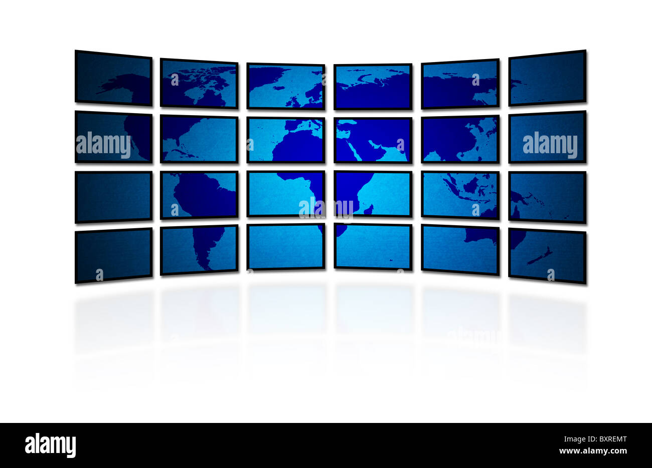 World map on digital tv wall with shadows and reflection stock world map on digital tv wall with shadows and reflection gumiabroncs