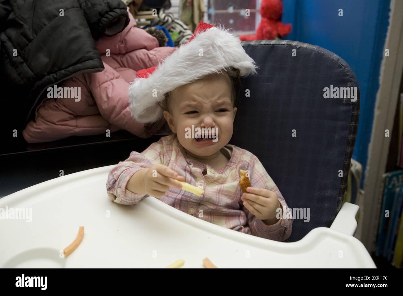 Nursery school and Pre-K program in the highly multicultural Kensington neighborhood in Brooklyn, New York. Baby Stock Photo