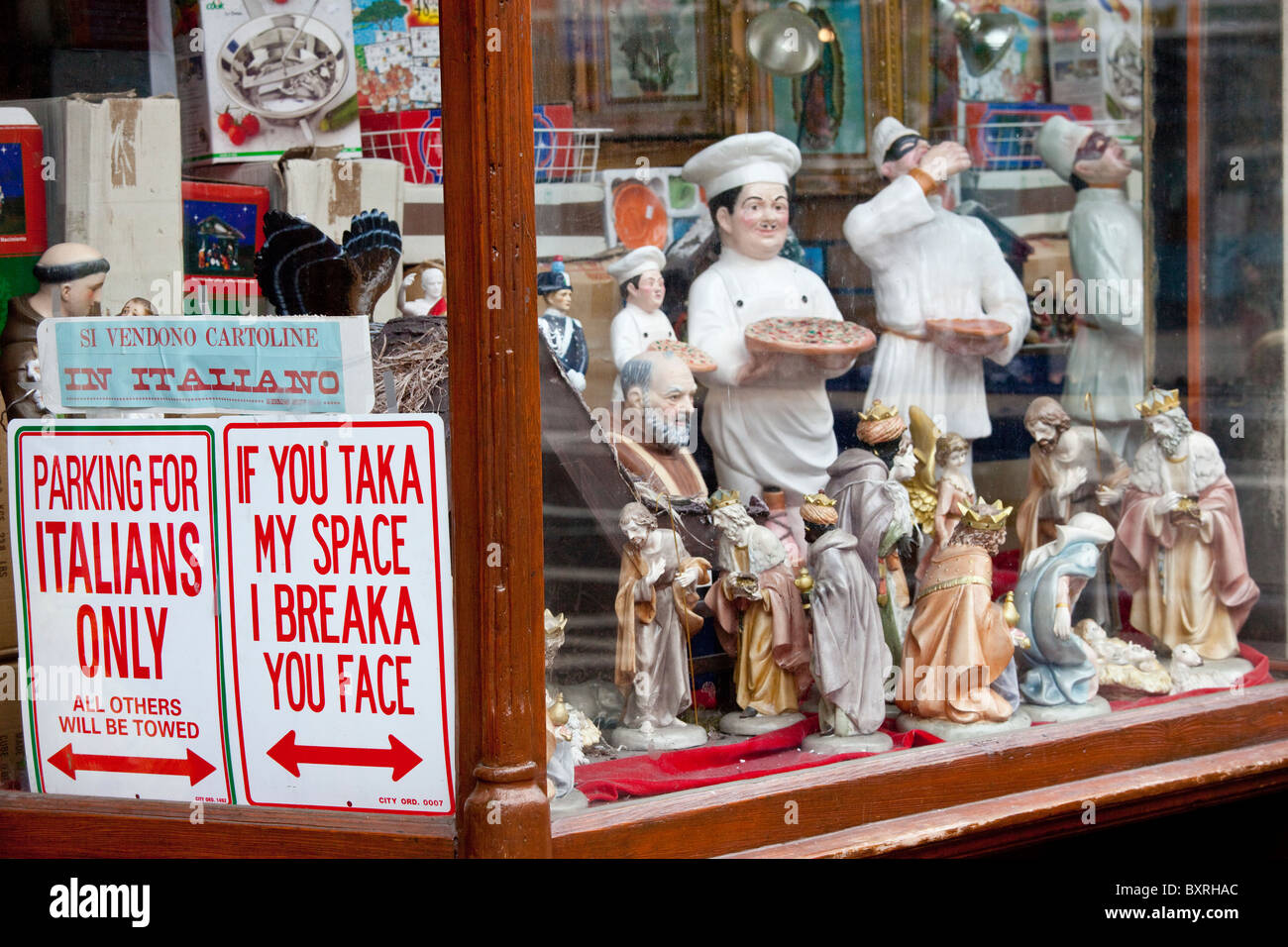 finest selection e5b1f d8ca3 Italian shop in Little Italy, New York City Stock Photo ...