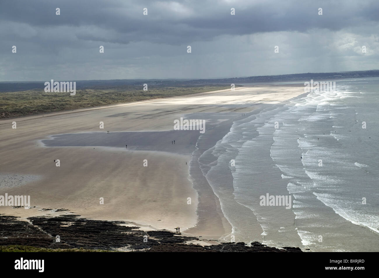 Great Britain, England, Devon, the Braunton Burrows sand dune system, Saunton Sands beach Stock Photo