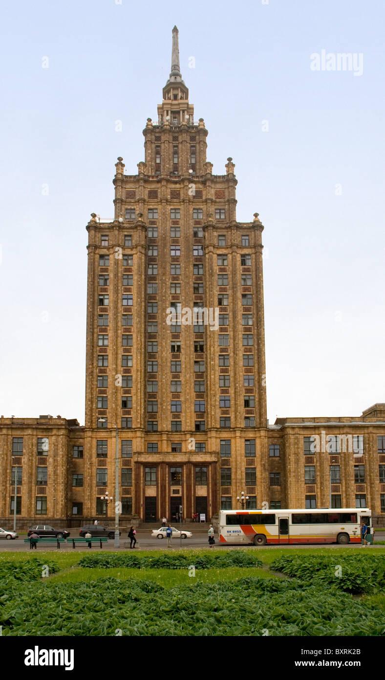 Latvia, Riga, Academy of Sciences, exterior - Stock Image