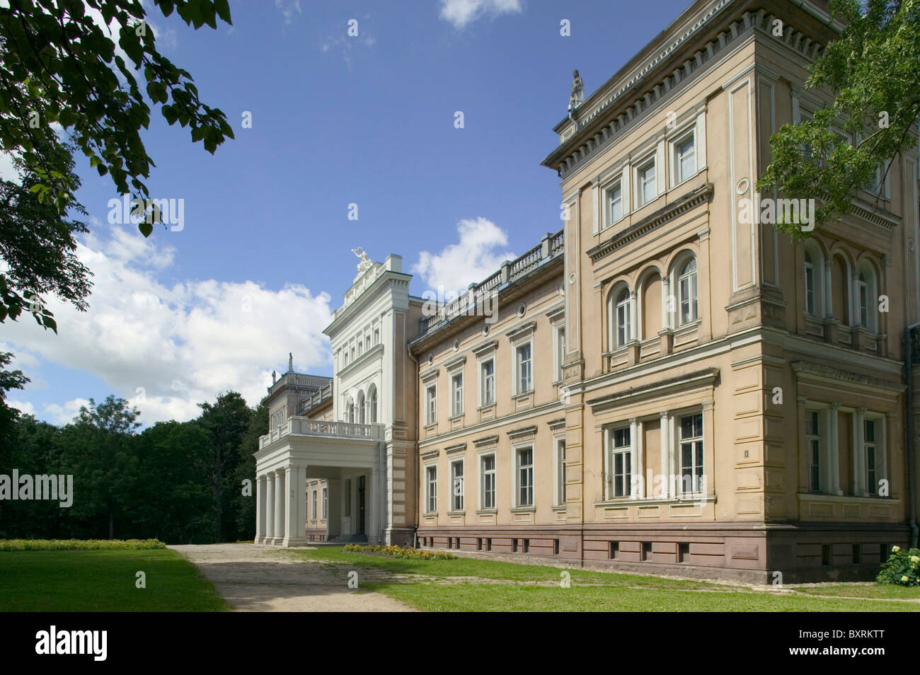 Lithuania, Plunge, Plunge Manor, View of exterior of building - Stock Image