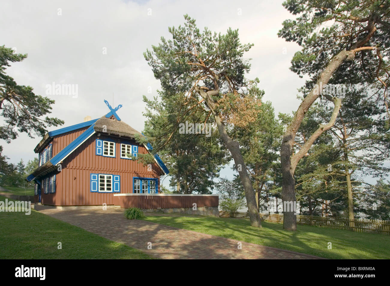 Lithuania, Curonian Spit, Nida, View of Thomas Mann House - Stock Image