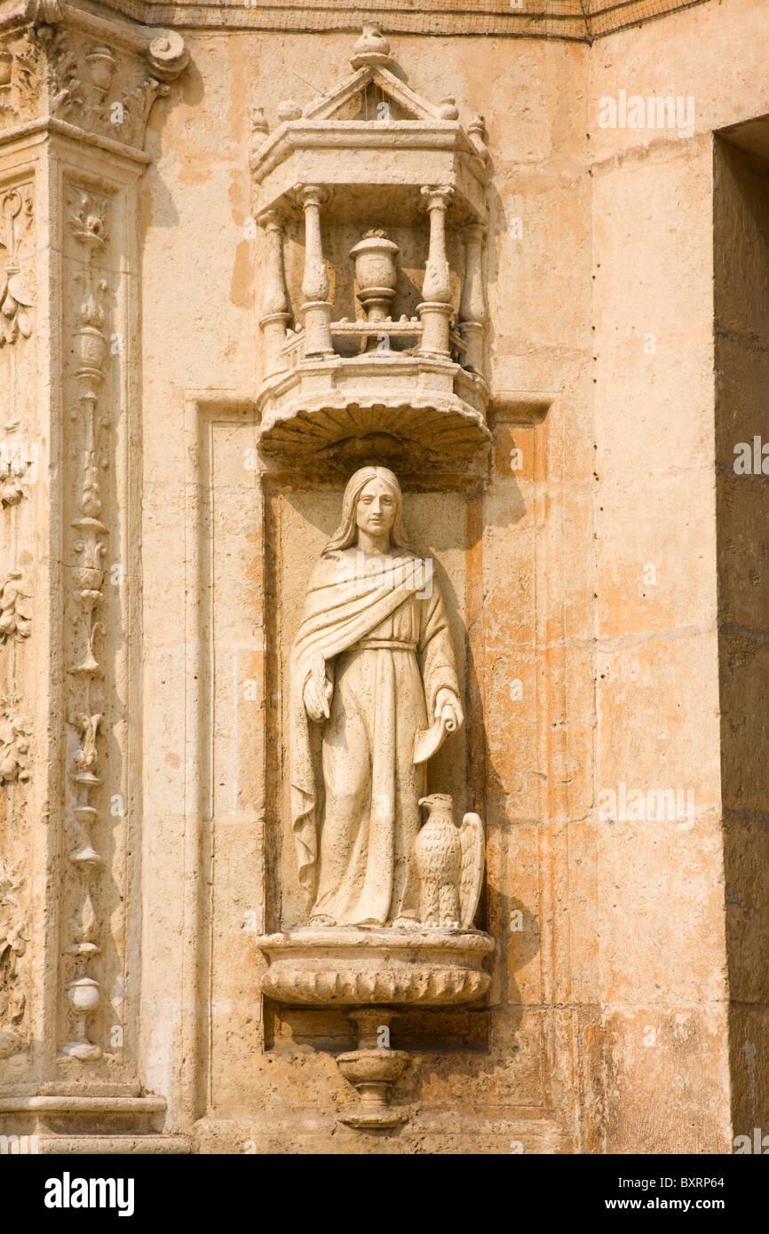 Dominican Republic, Santo Domingo, Cathedral Primada, bas relief - Stock Image