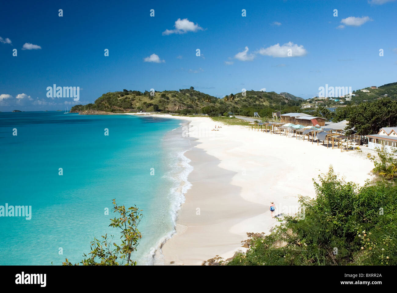 Caribbean, Leeward Islands, Antigua, view of Darkwood beach Stock Photo