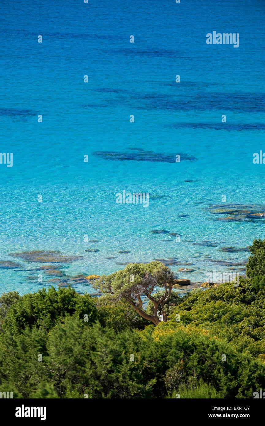 Porto Sa Rux beach, Villasimius, south Sardinia, Italy, Europe - Stock Image