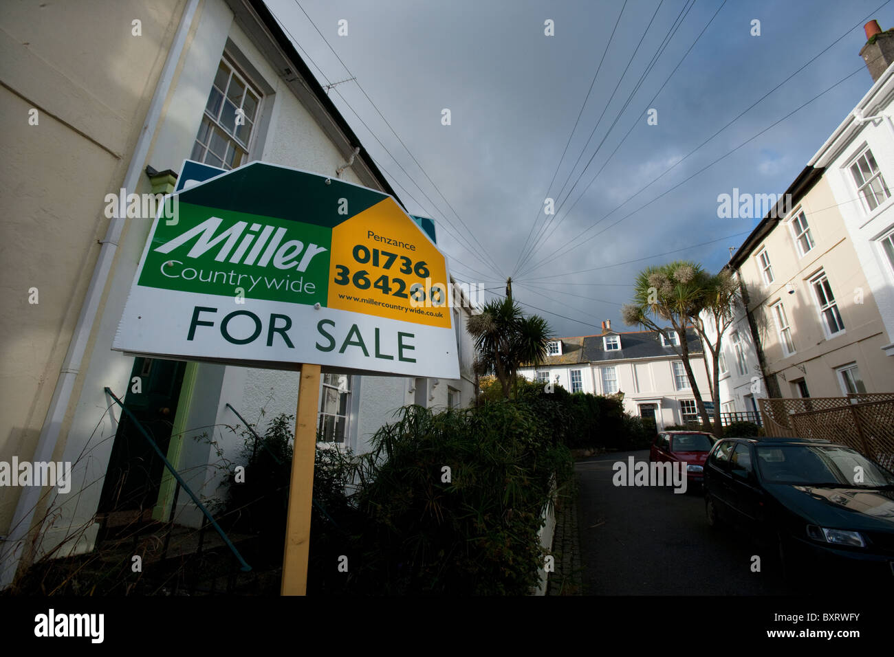 House for sale in Penzance, Cornwall - Stock Image