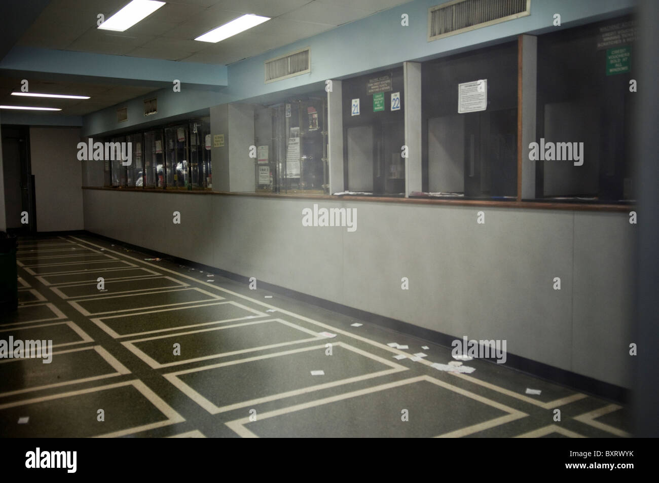A closed Off Track Betting parlor in Midtown Manhattan in New York - Stock Image