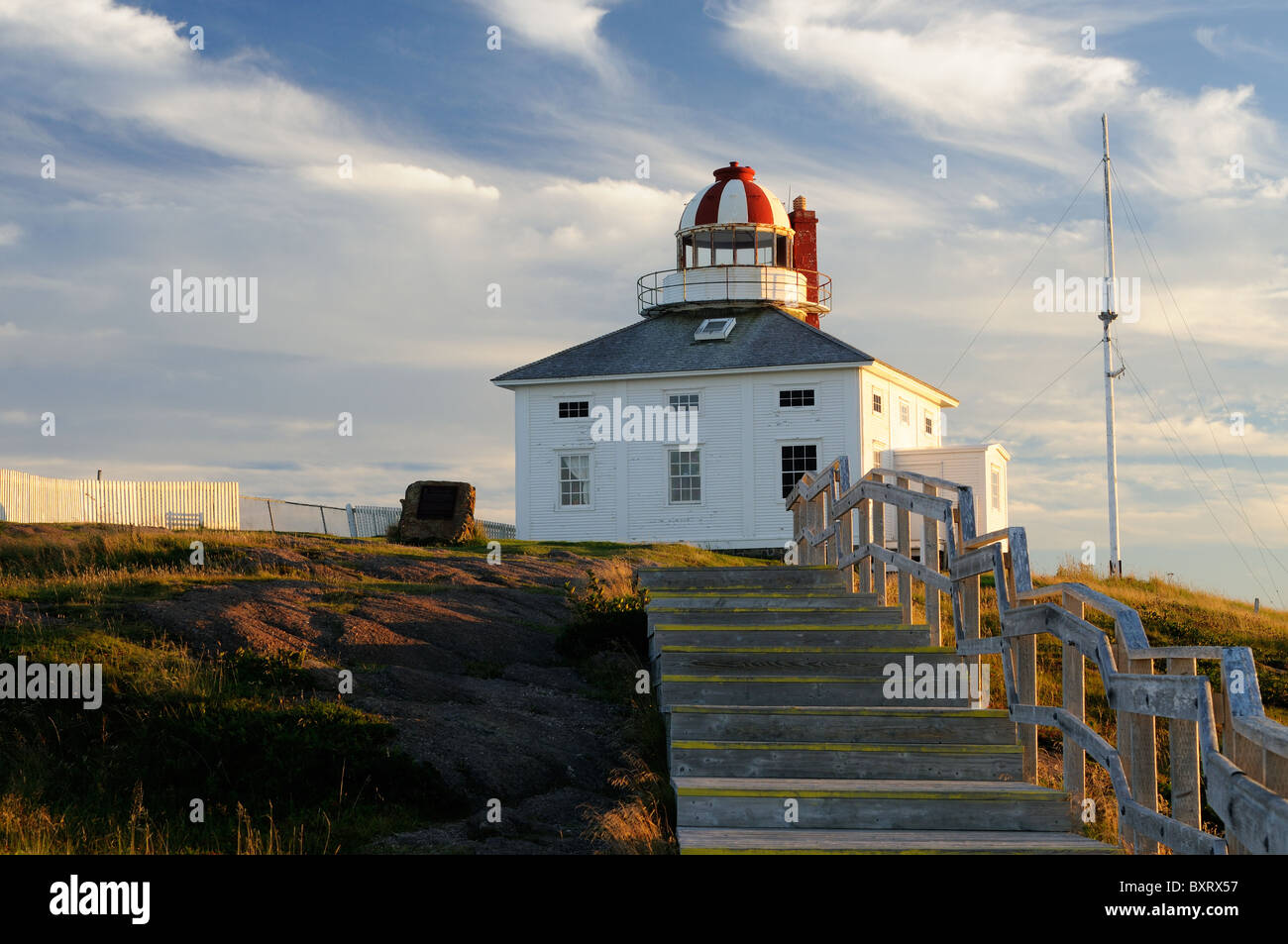 Cape Spear Lighthouse Built In 1836 - Stock Image