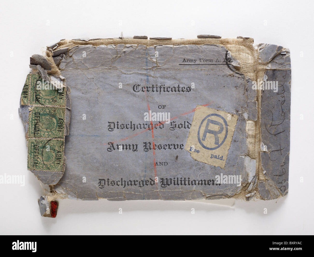 Discharge certificate from the Boer Wars - Stock Image