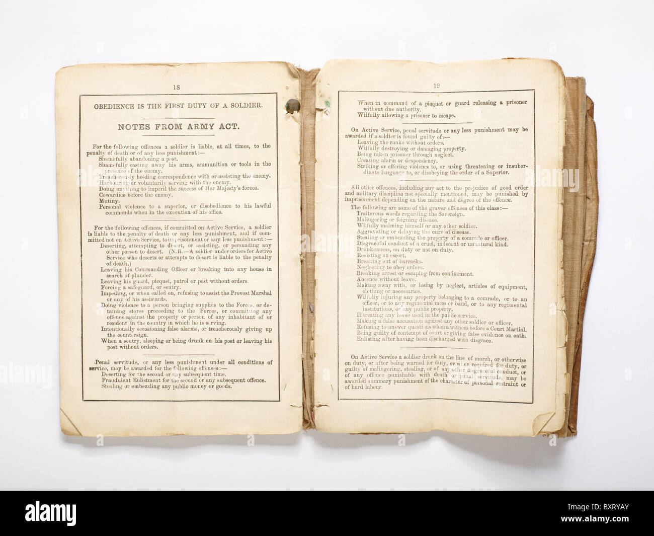 Military book from the Boer Wars - Stock Image