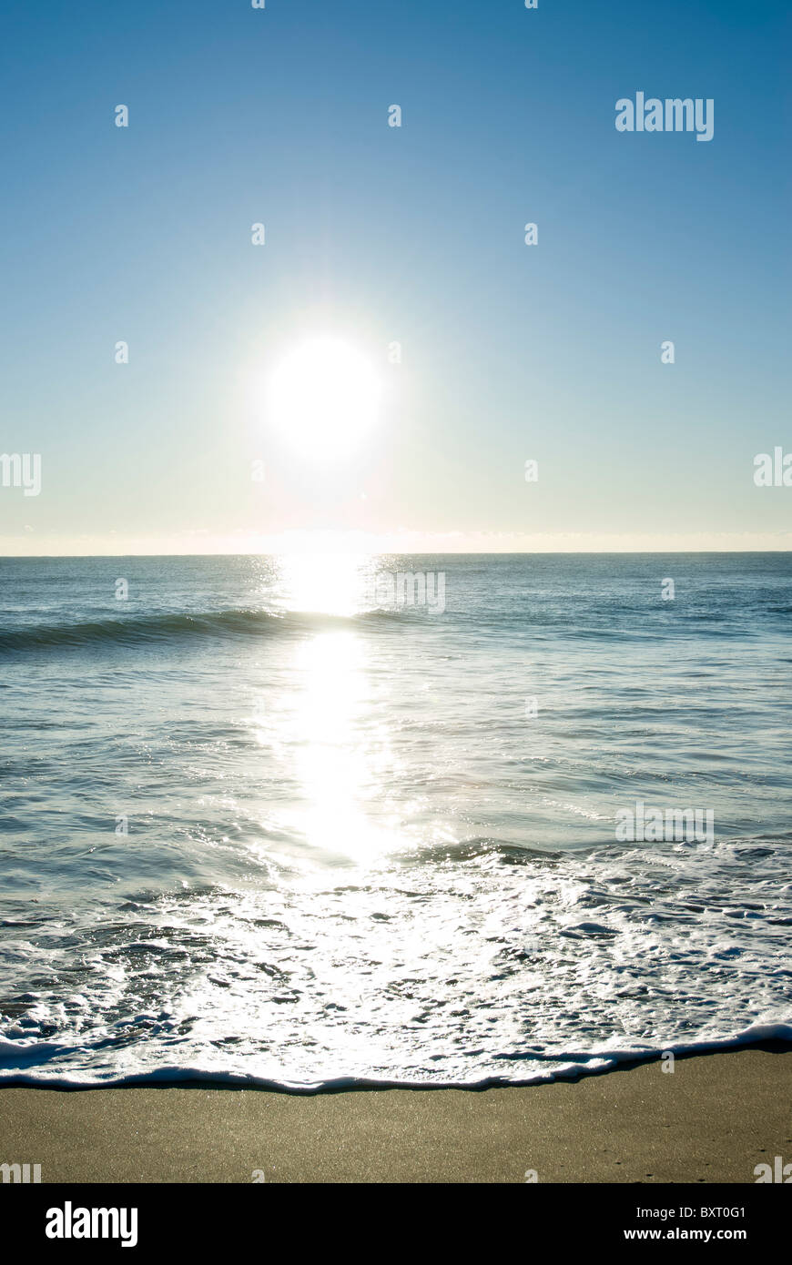 sunrise at beach Stock Photo