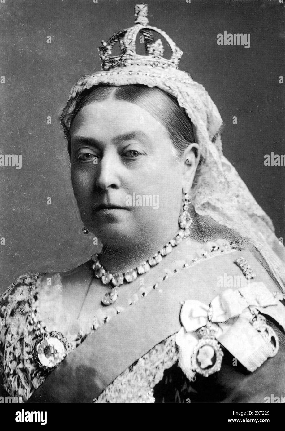 QUEEN VICTORIA  (1881-1901) British monarch photographed by Alexander Bassano in 1882 - Stock Image