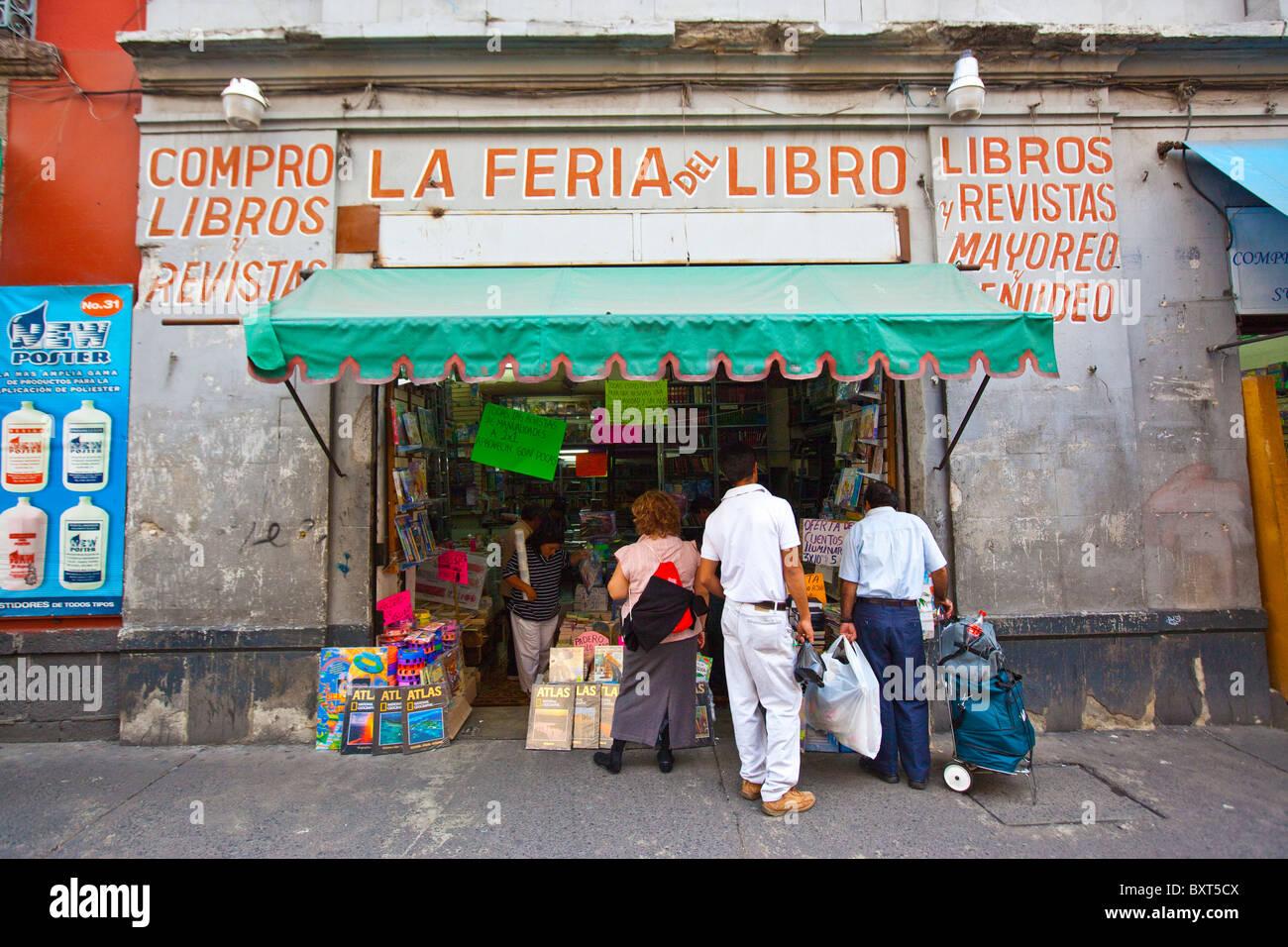 Bookstore in Mexico City, Mexico - Stock Image