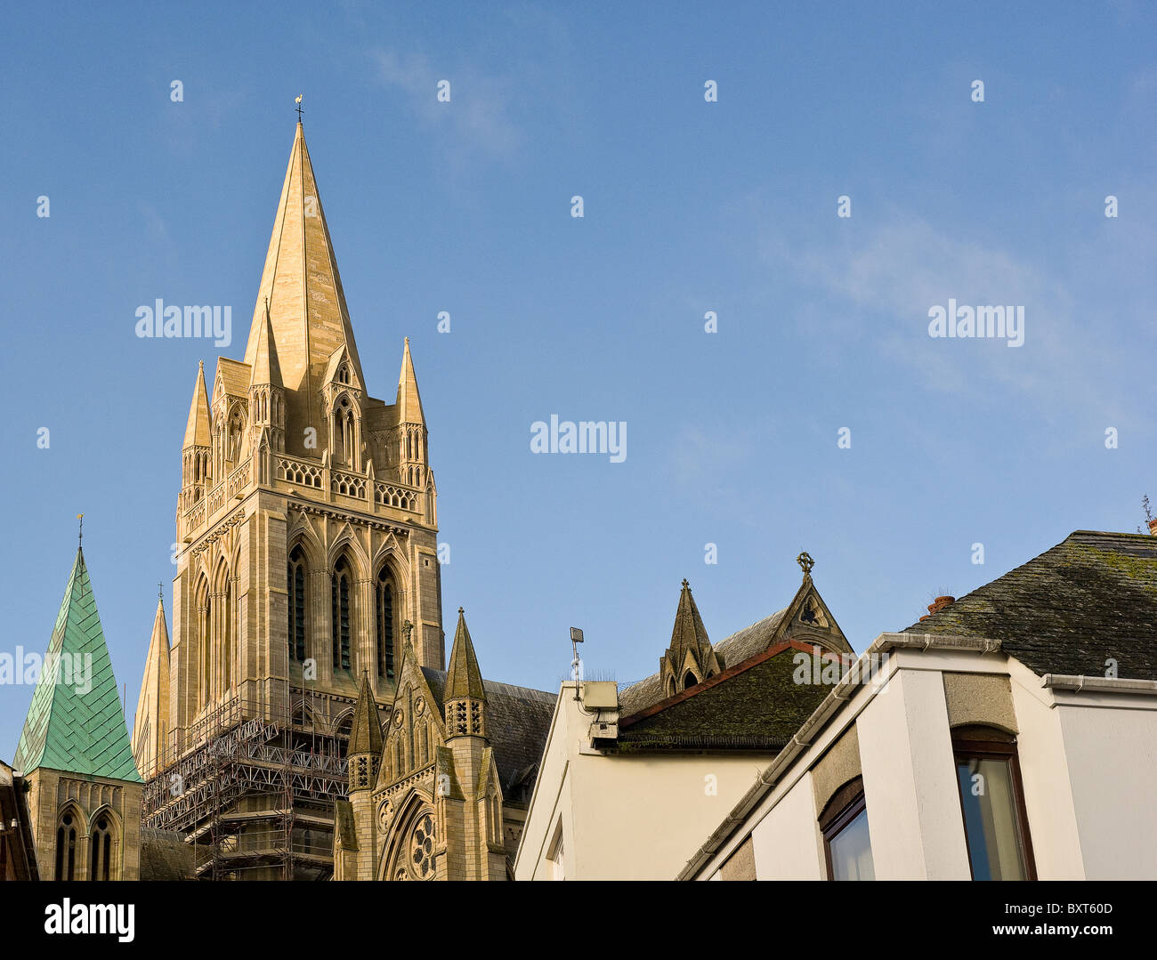 Truro Cathedral in Cornwall.  Photograph by Gordon Scammell - Stock Image