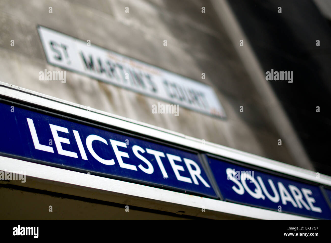 Leicester Square tube station - Stock Image