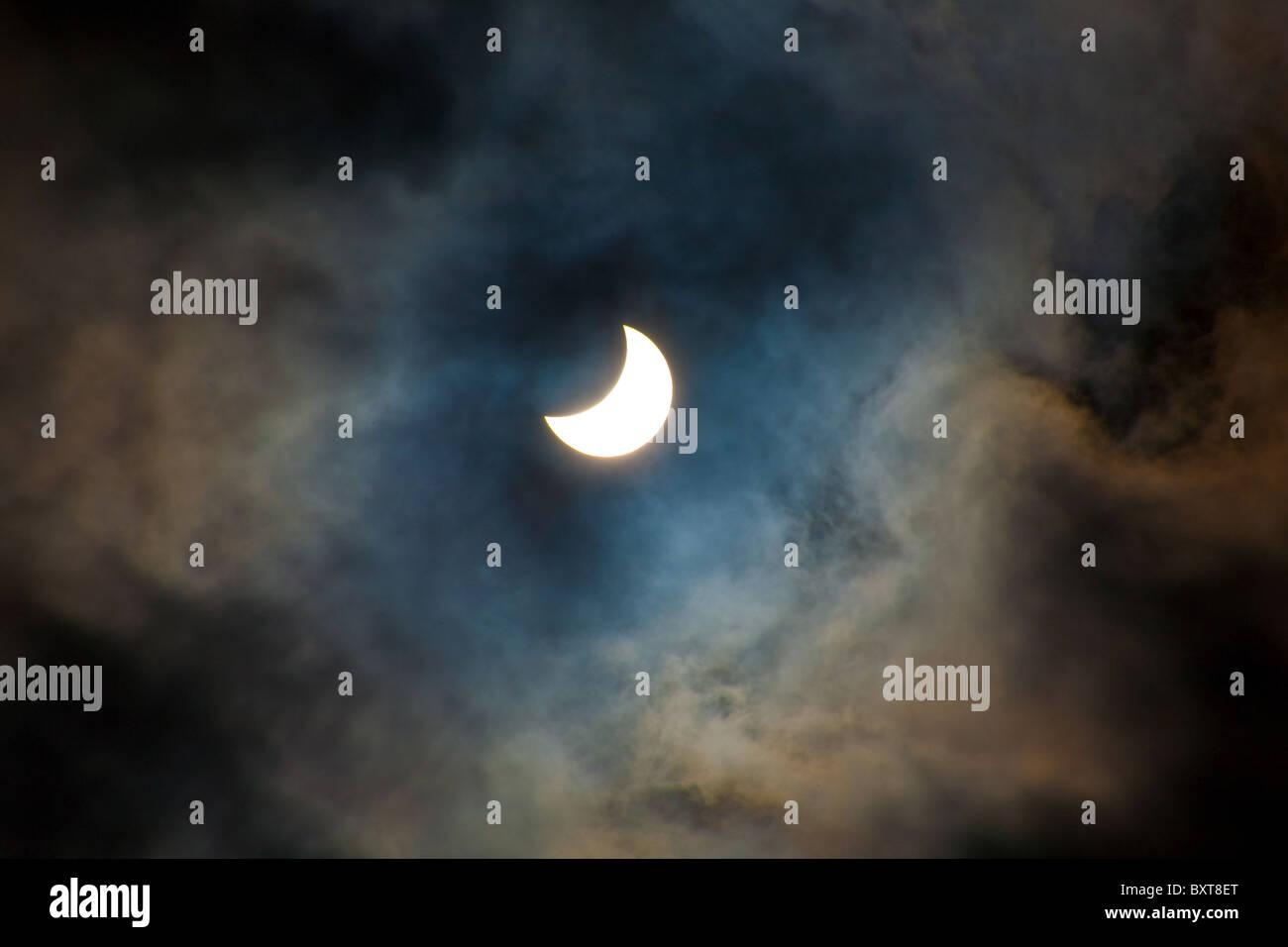Partial Solar eclipse - Stock Image