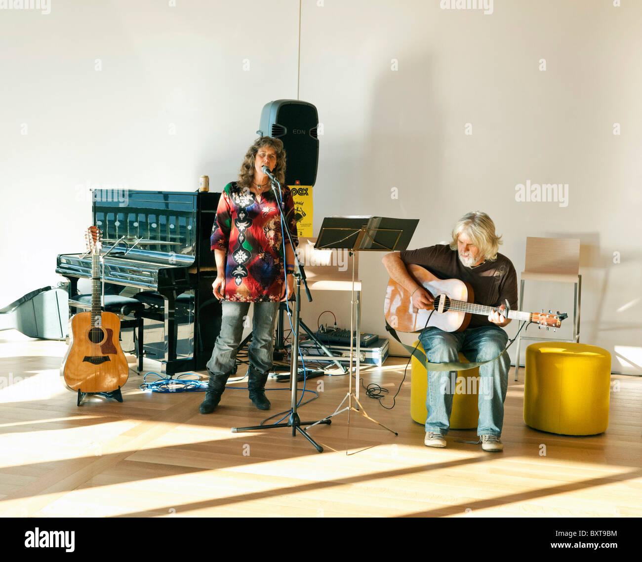 live band playing - Stock Image