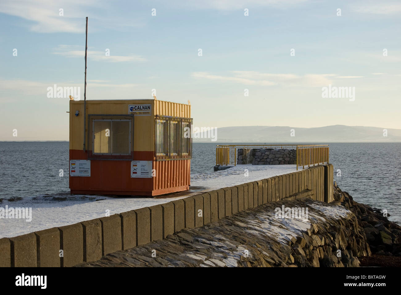 Lifeguard Hut, Galway Bay, Ireland - Stock Image