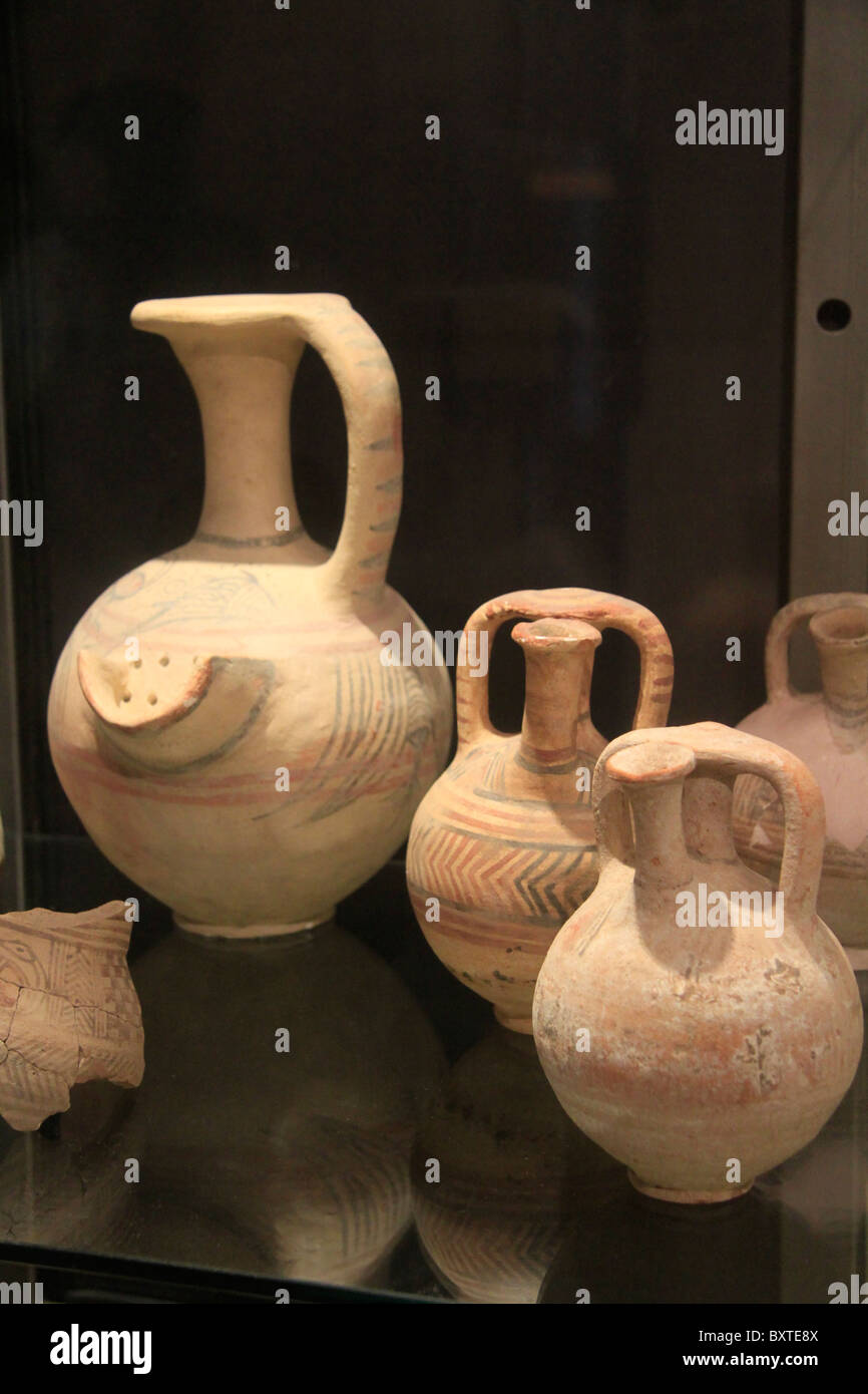 "Israel, Ashdod, the ""Philistine World"" exhibition at the Corine Maman Ashdod Museum - Stock Image"