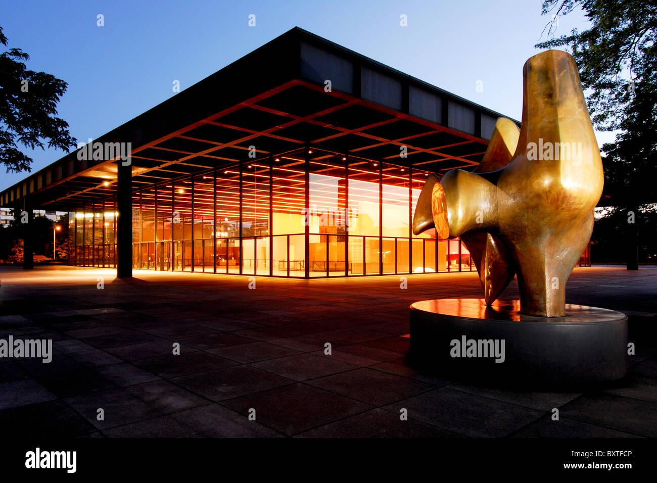 1965, 1965-1968, 1968, am, architecture, architekt, architektur, art, aussen, bauhaus, bauwerk, berlin, building, - Stock Image
