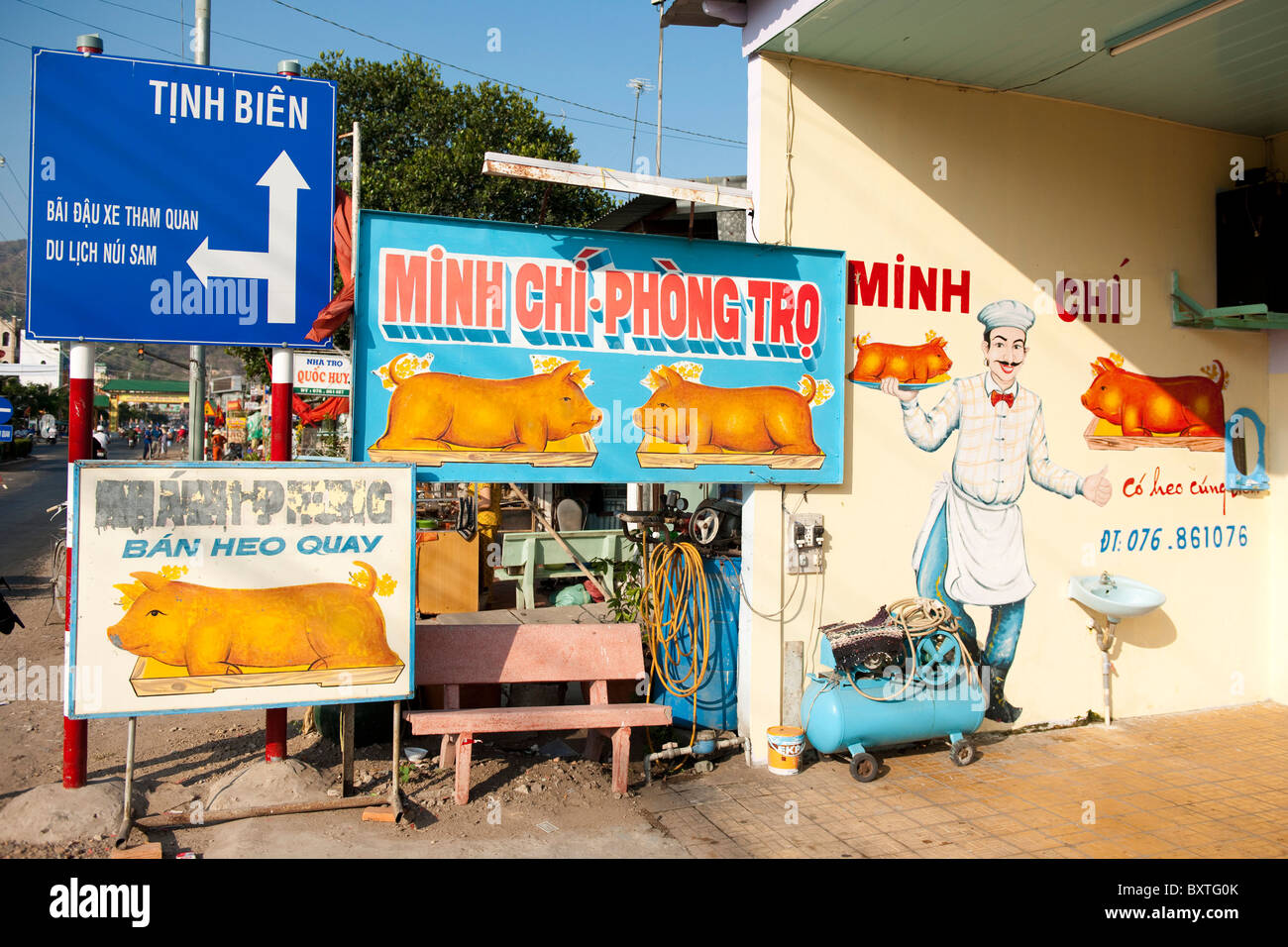 street scene, Mekong Delta, Chau Doc, Vietnam - Stock Image