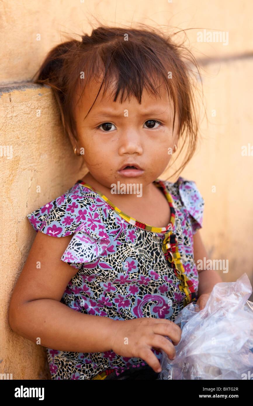 Girl, Mekong Delta, Chau Doc, Vietnam - Stock Image