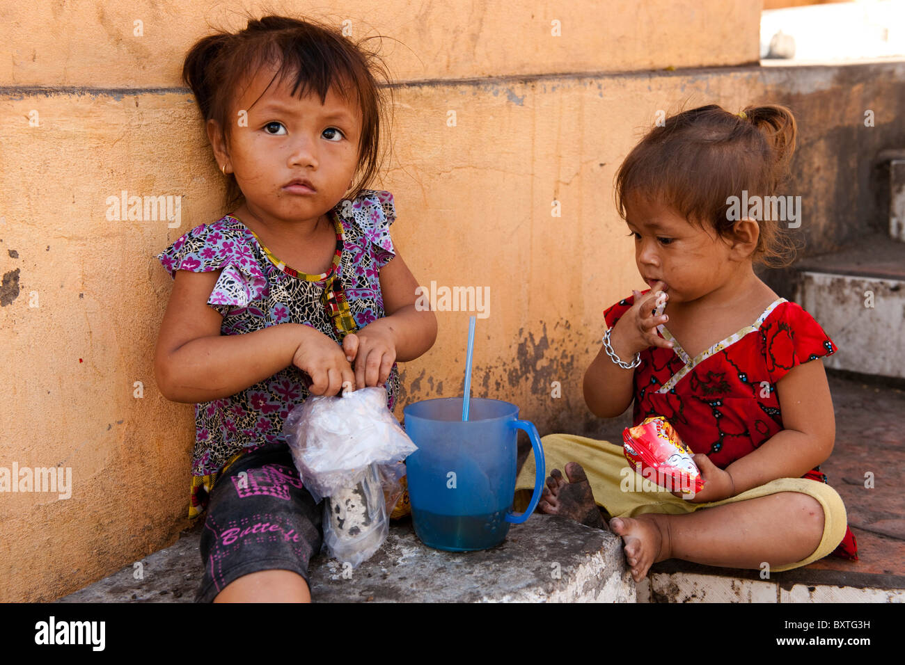 Girls, Mekong Delta, Chau Doc, Vietnam - Stock Image