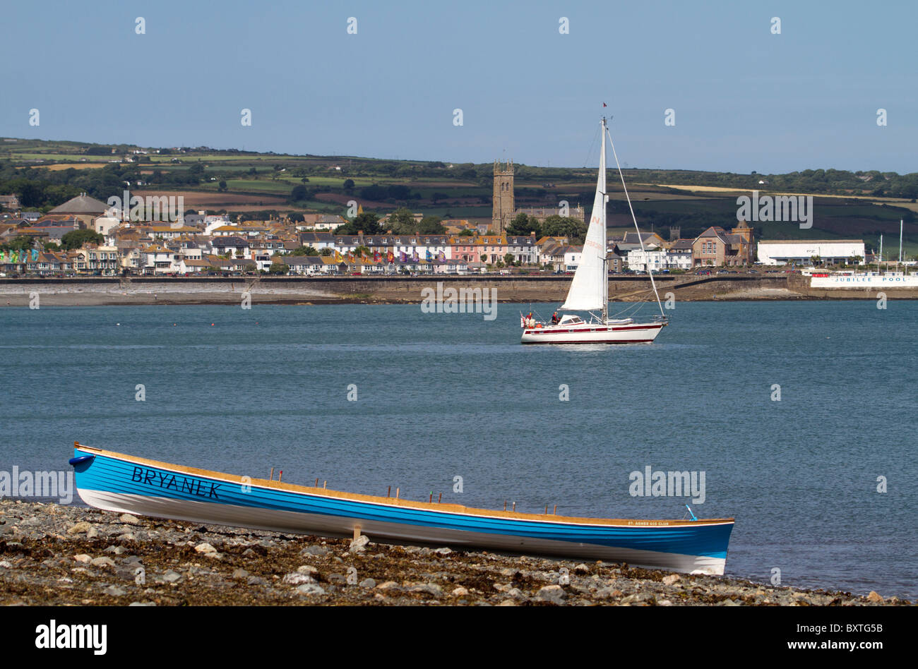 Pilot gig near Penzance, Cornwall, UK. - Stock Image
