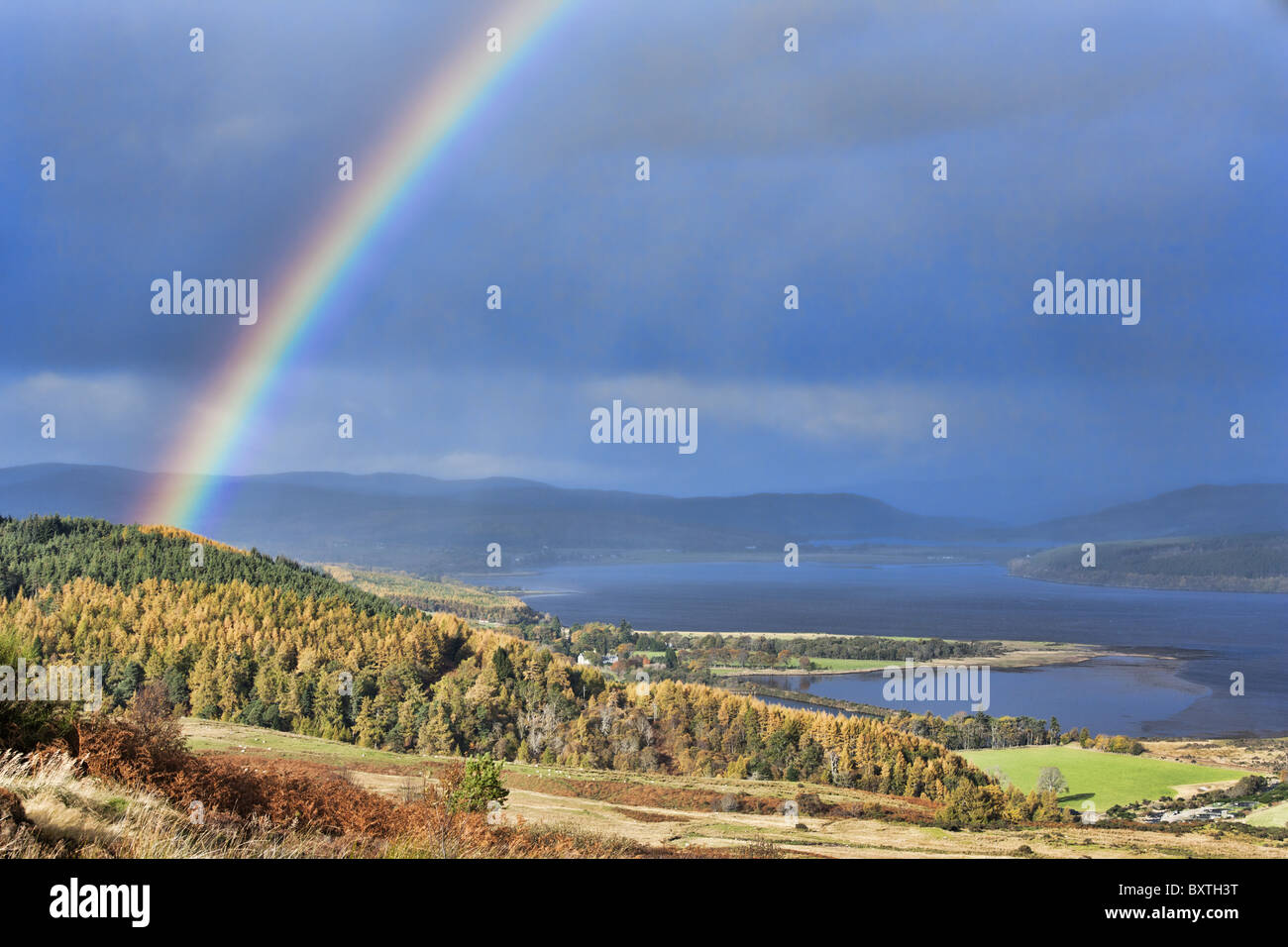 Scenery of the Moray Firth - Stock Image