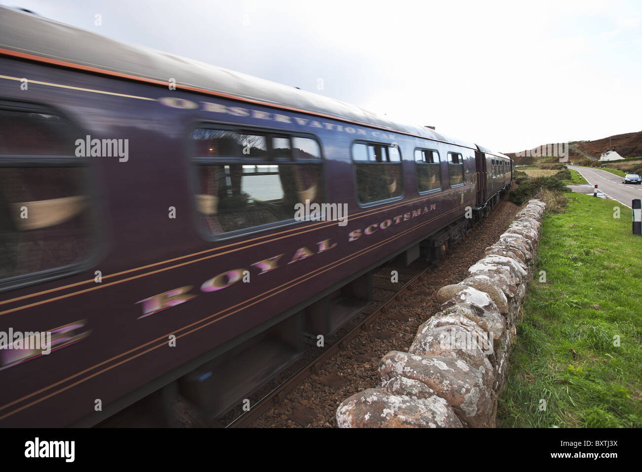 The Royal Scotsman Train. - Stock Image
