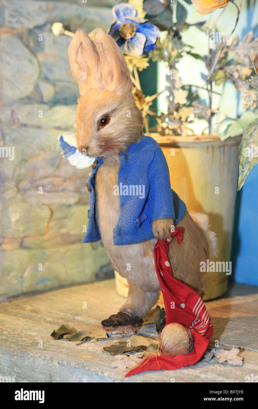 Cumbria, Bowness-on-windermere, The World Of Beatrix Potter Attraction, Peter Rabbit - Stock Image