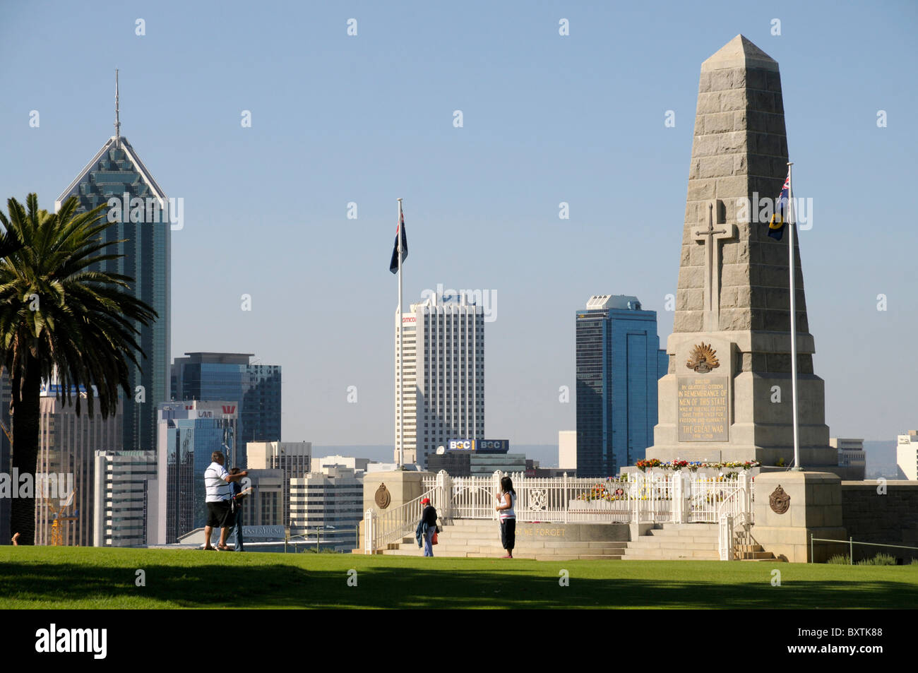City View From Kings Park In Perth Wa Australia Stock Photo