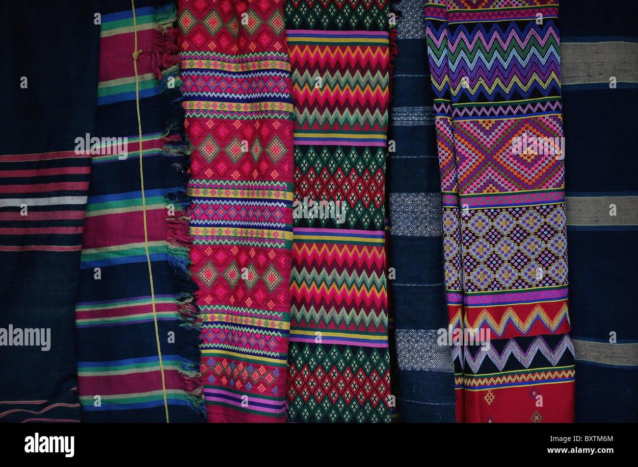 Colorful Traditional Mizo Textiles, Close Up Stock Photo - Alamy