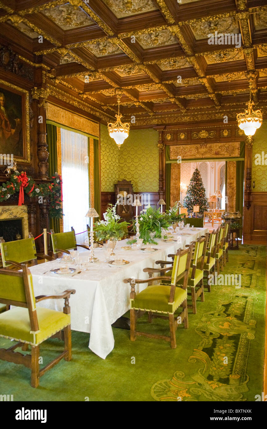 Whitehall built 1902 by Henry Flagler Museum , Palm Beach , Florida , USA , French Renaissance style Dining Room - Stock Image