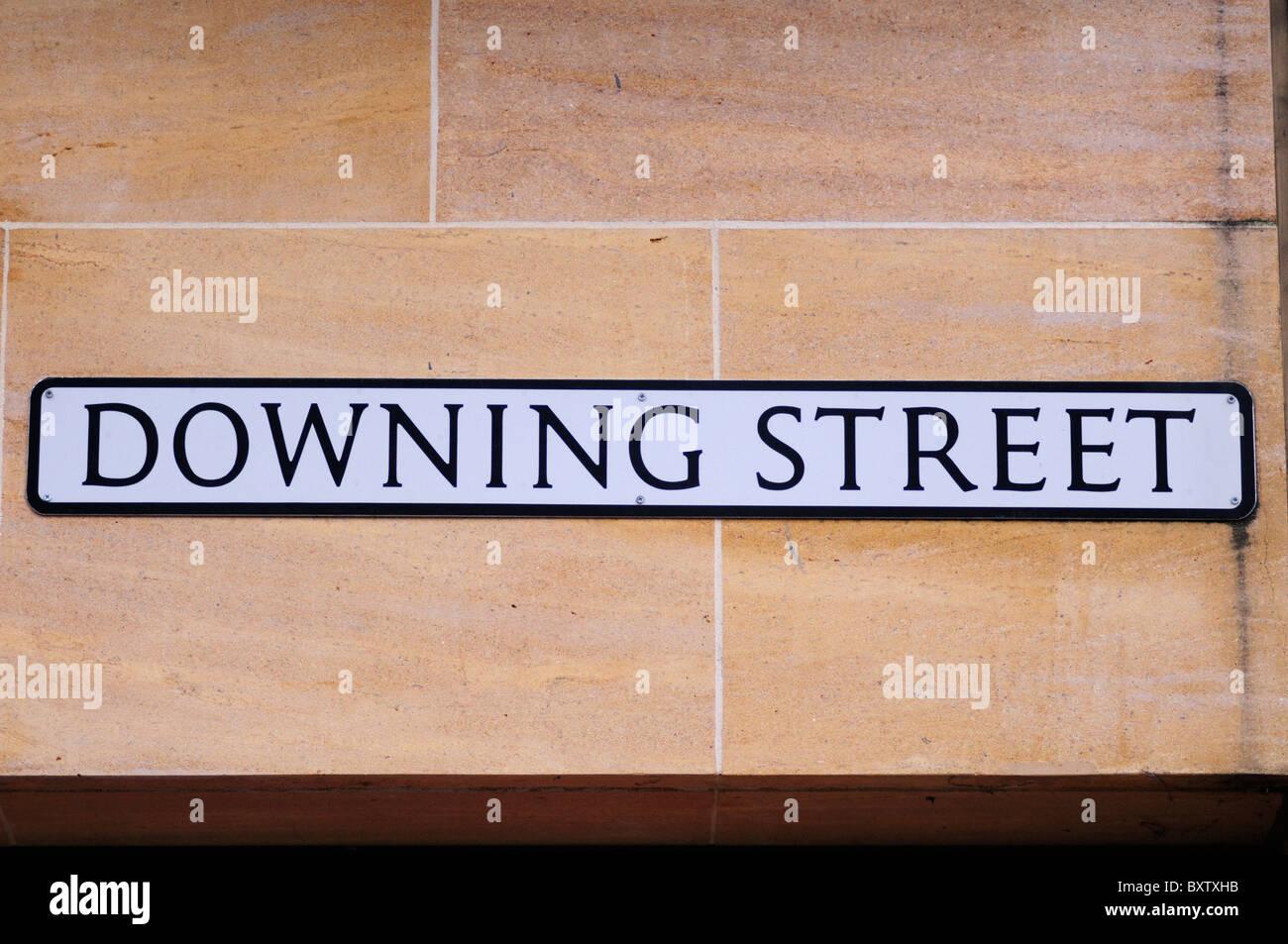 Downing Street Sign, Cambridge, England, UK - Stock Image