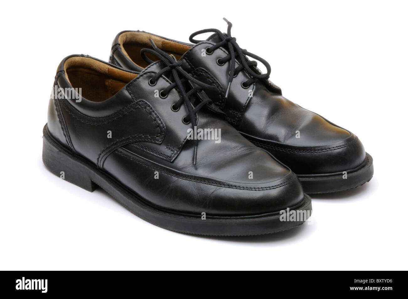 Formal black leather men's shoes Stock Photo: 33739810 Alamy