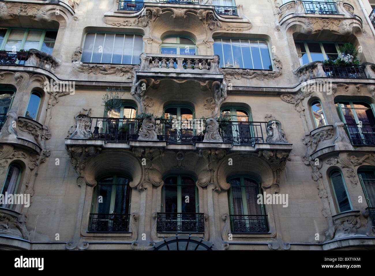 art nouveau architecture paris france stock photo 33739992 alamy