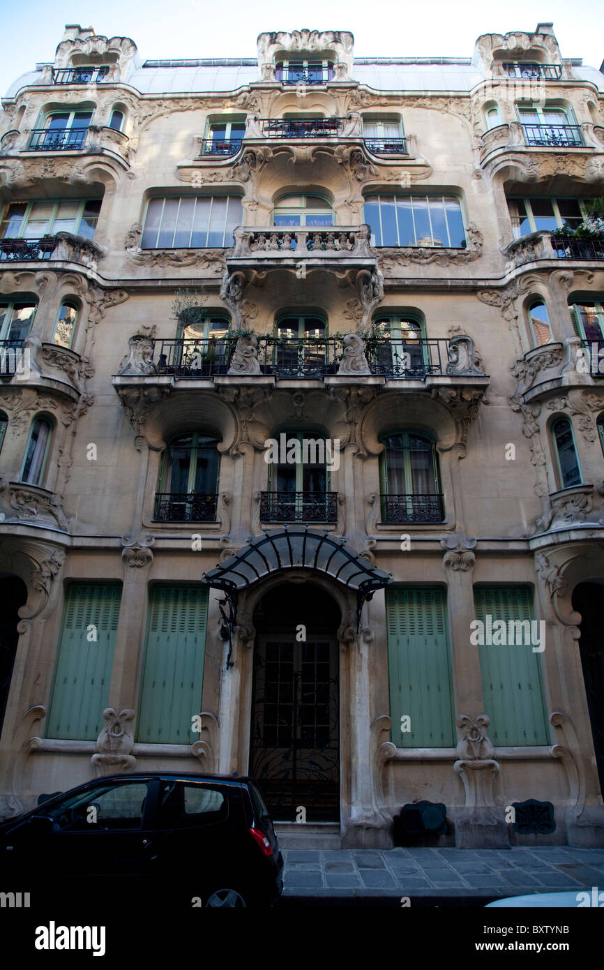 art nouveau architecture paris france stock photo 33740039 alamy