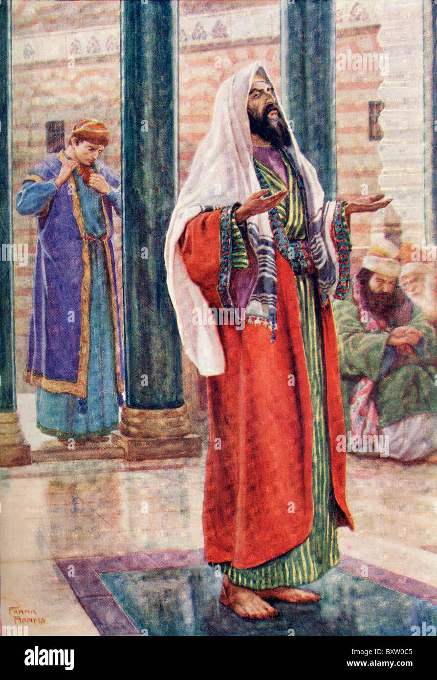 The parable of the Pharisee and the Publican. - Stock Image