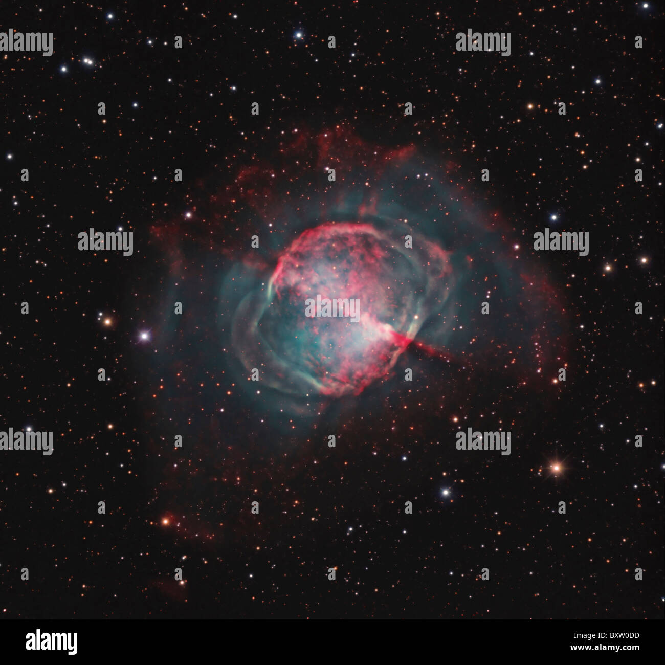 The Dumbbell Nebula - Stock Image