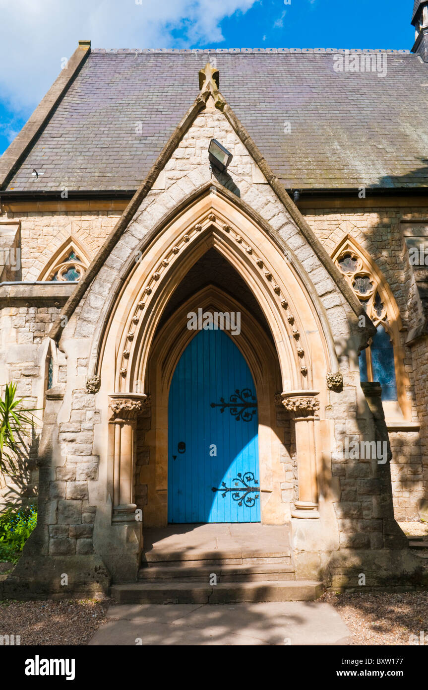 Door at Rosslyn Hill Chapel, Hampstead, London - Stock Image