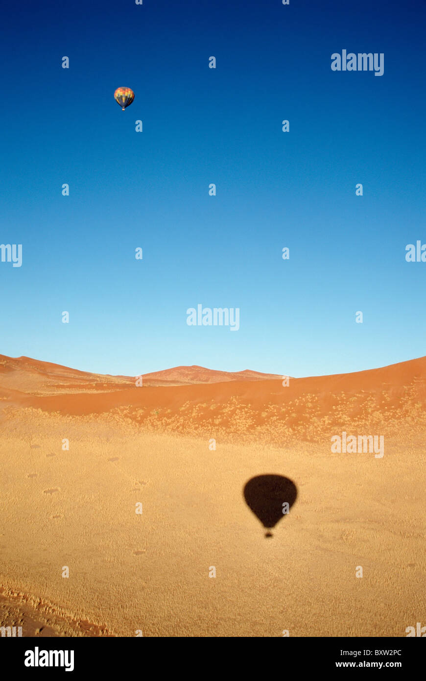 Hot Air Ballooning Over Namib Desert - Stock Image