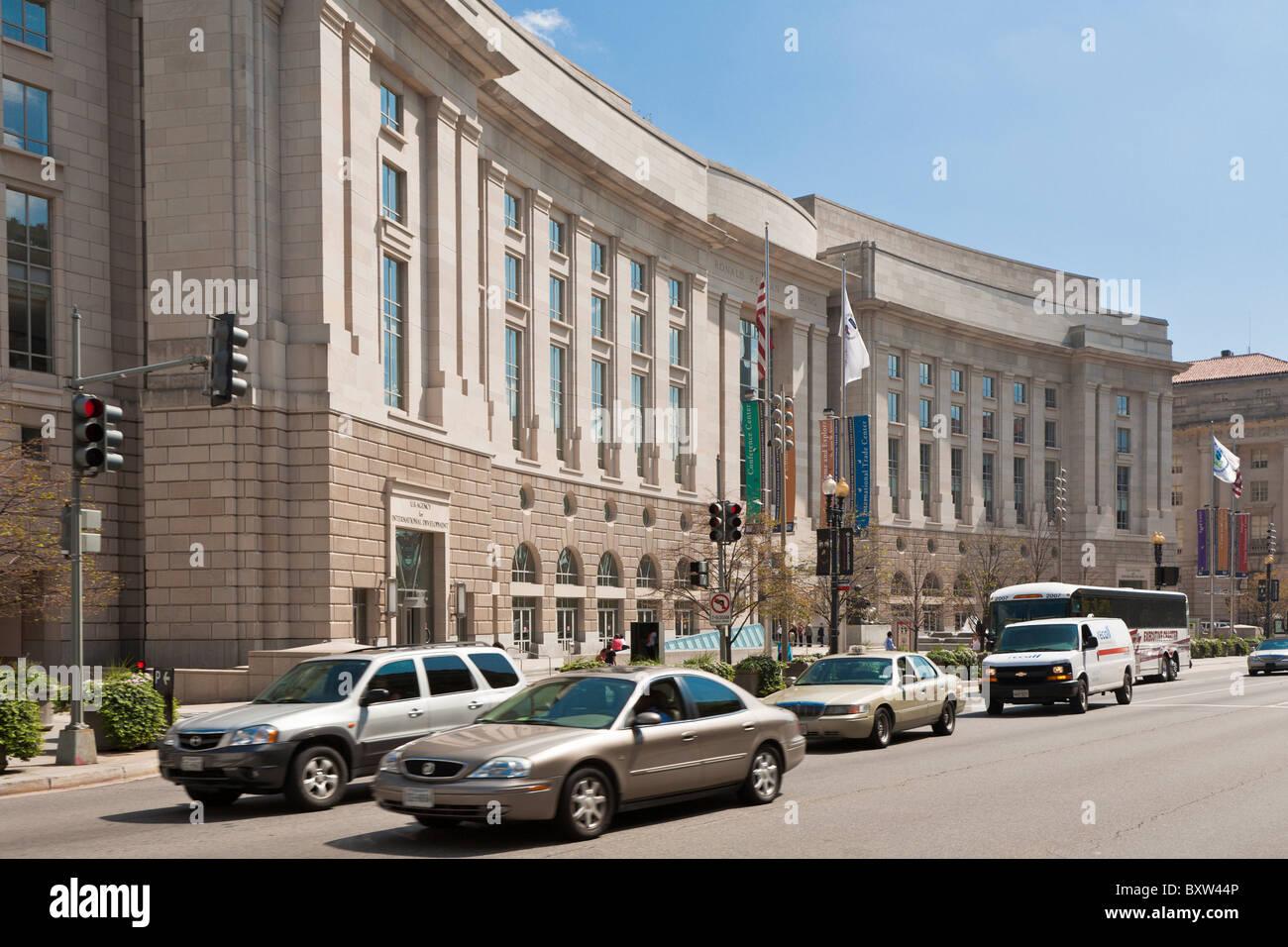 Washington DC - Sep 2009 - The Ronald Reagan building in Washington DC - Stock Image