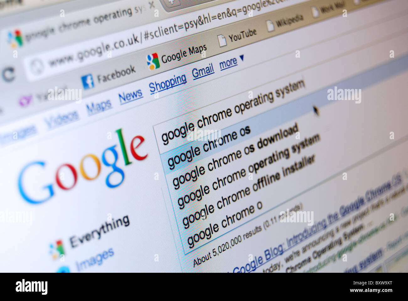 Google Chrome Stock Photos & Google Chrome Stock Images - Alamy
