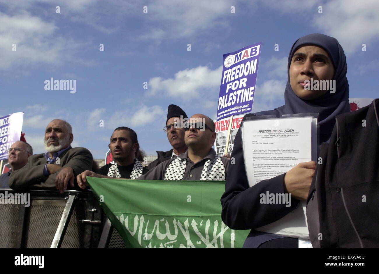 UK. RALLY FOR FREEDOM FOR PALESTINE IN LONDON Stock Photo