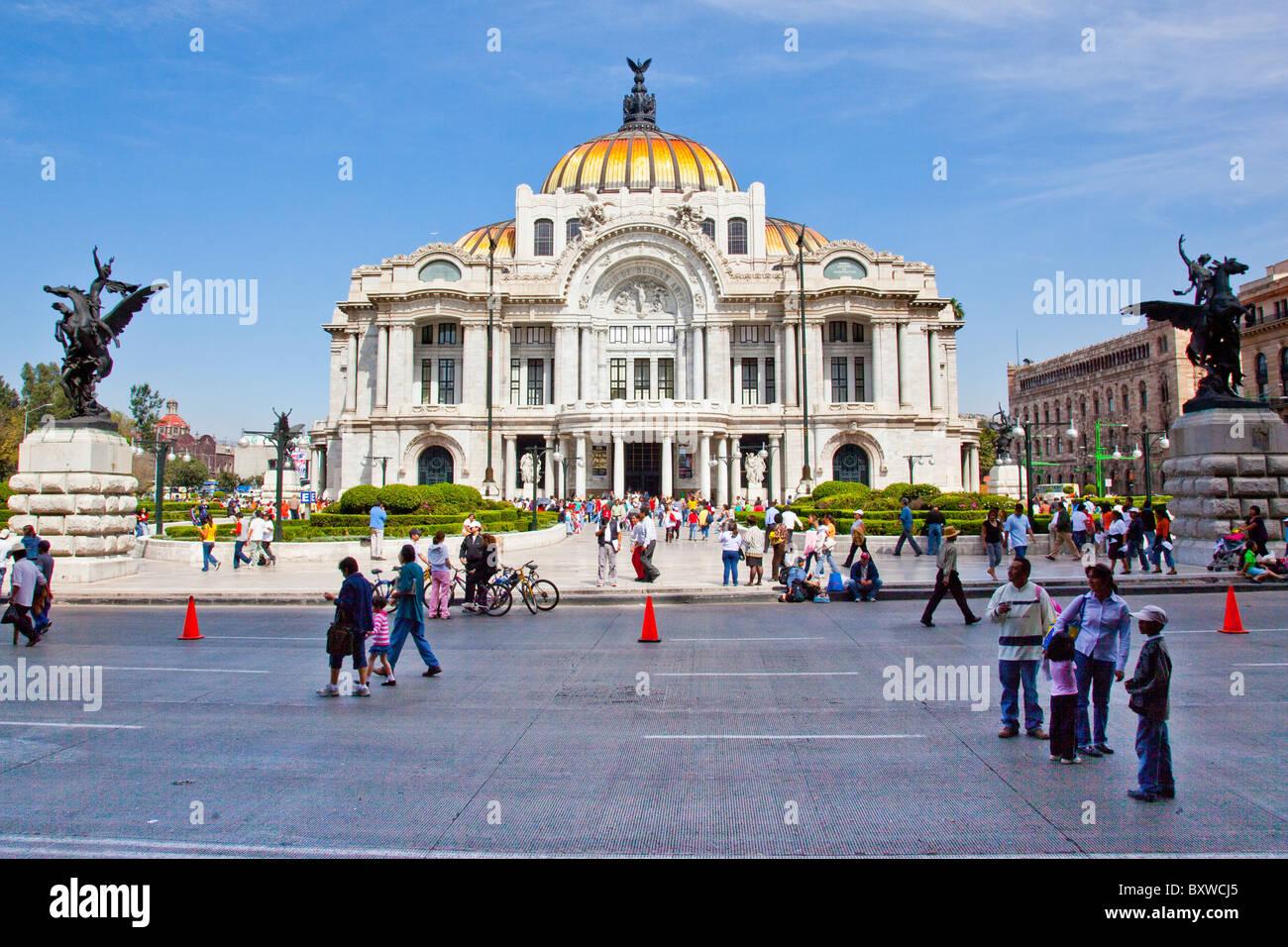 Palacio de Bellas Artes or the Palace of Fine Arts, Mexico City, Mexico Stock Photo